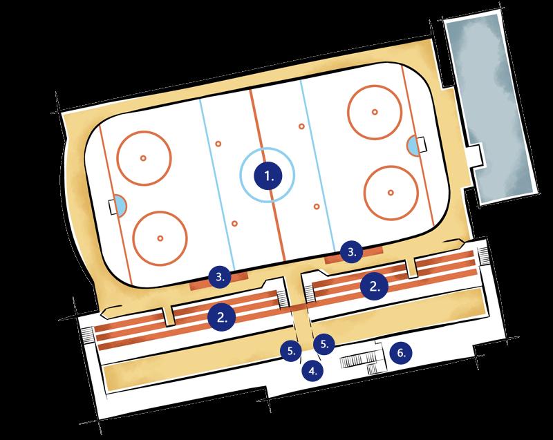 Orientační plán - areál zimního stadionu